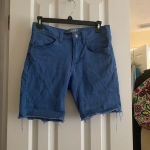 Skinny Low Waisted Jean Shorts- SIZE 28
